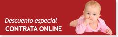 Descuento especial por contratar el servicio online